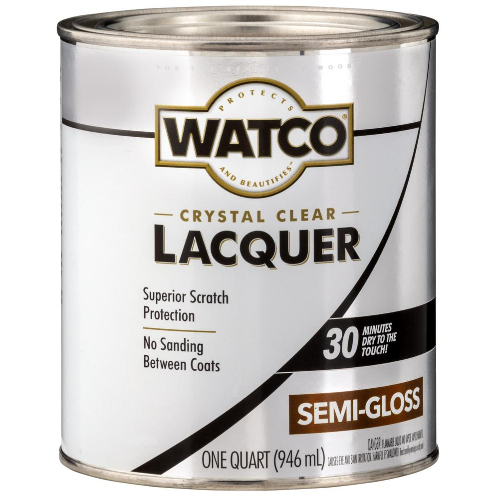 Watco 1 qt. Clear Semi-Gloss Lacquer Wood Finish (6-Pack)