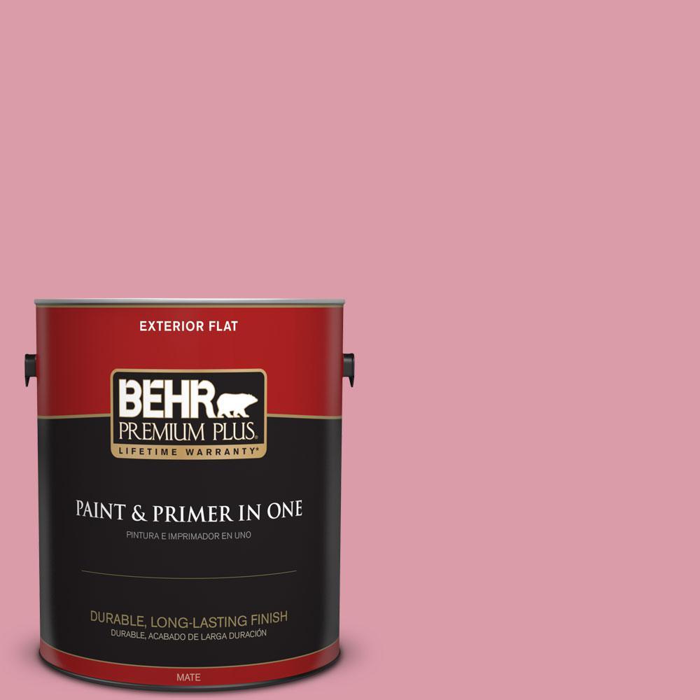 BEHR Premium Plus 1-gal. #110C-3 Glamour Flat Exterior Paint