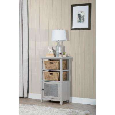 Tuscan Retreat Taupe Basket Stand with 2-Baskets