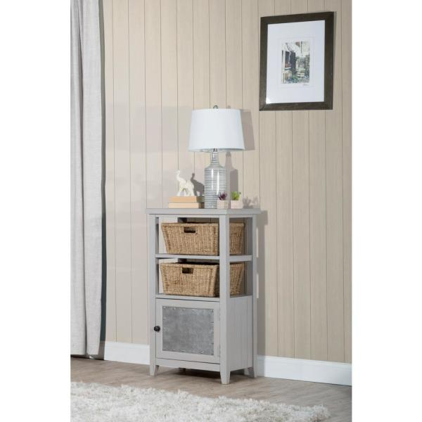 Hillsdale Furniture Tuscan Retreat Taupe Basket Stand with 2-Baskets