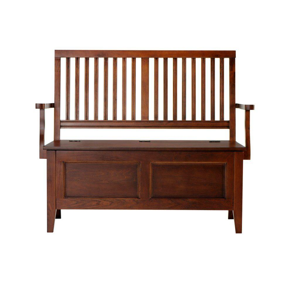Martha Stewart Living Solutions 47 in. W Sequoia Wood Entry Bench