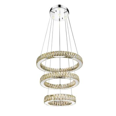 Florence 56-Watt Chrome Integrated LED Chandelier