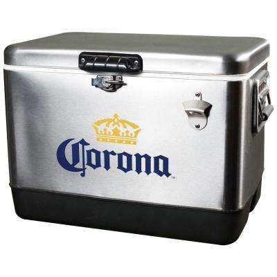 54 Qt. Stainless Steel Corona Ice Chest Cooler