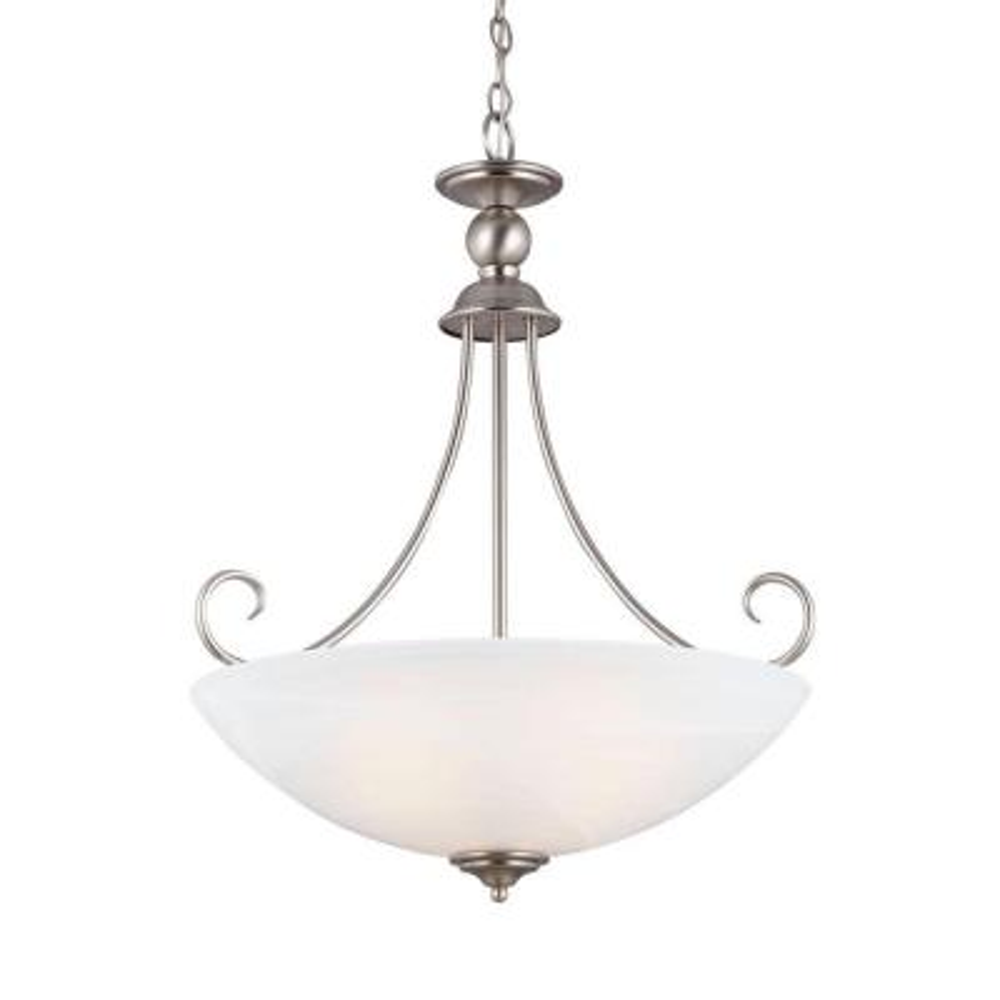 Lemont 3-Light Antique Brushed Nickel Indoor Pendant