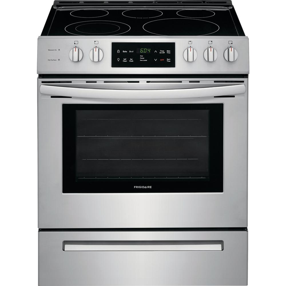 Single Oven Electric Range With Self Cleaning In Stainless Steel