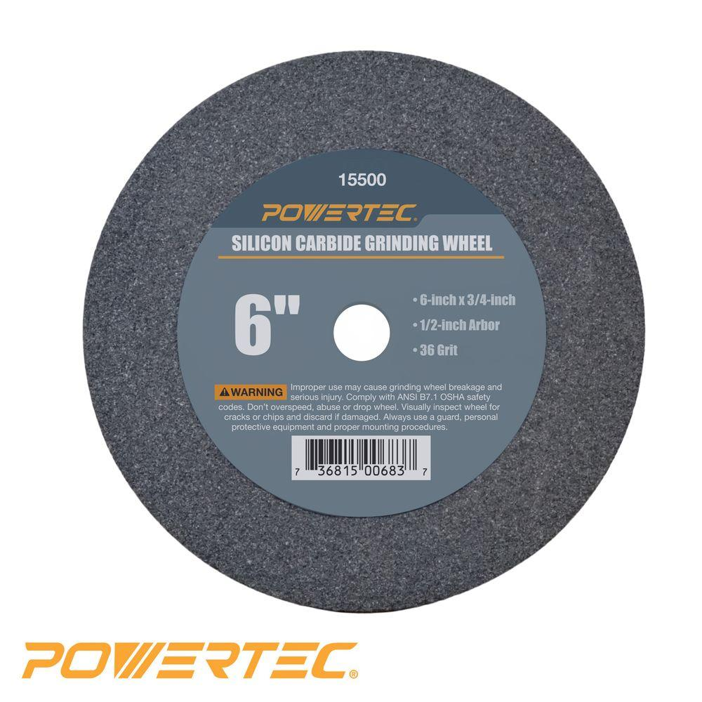 6 in. x 3/4 in. x 1/2 in. 36-Grit Silicon Carbide