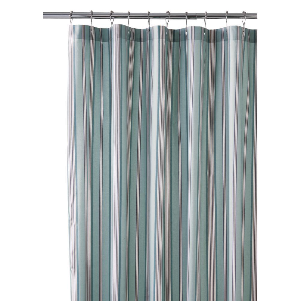 Stripe Shower Curtain In Blue Haze