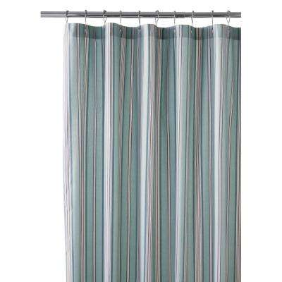 Nuri 72 in. Stripe Shower Curtain in Blue Haze