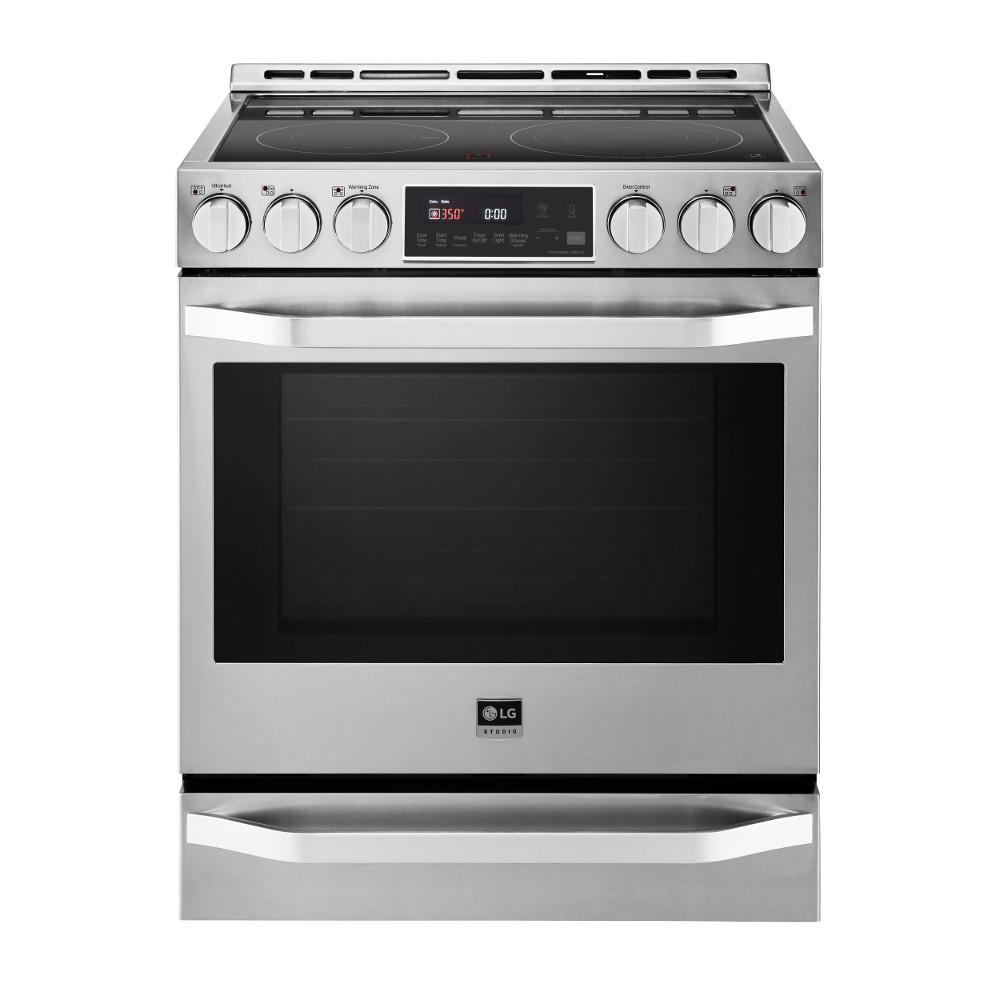 6.3 cu. ft. Slide-In Electric Range with Warming Drawer in Stainless