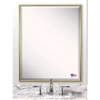 27.125 in. x 21.125 in. Tango Polished Gold Beveled Vanity Wall Mirror
