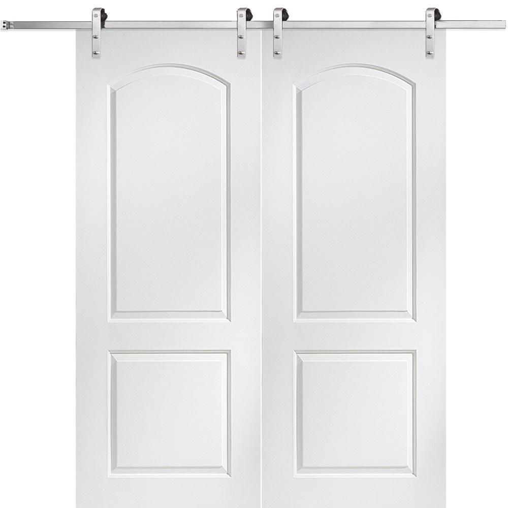 MMI Door 72 in. x 84 in. Continental Molded Solid Core Primed MDF Smooth