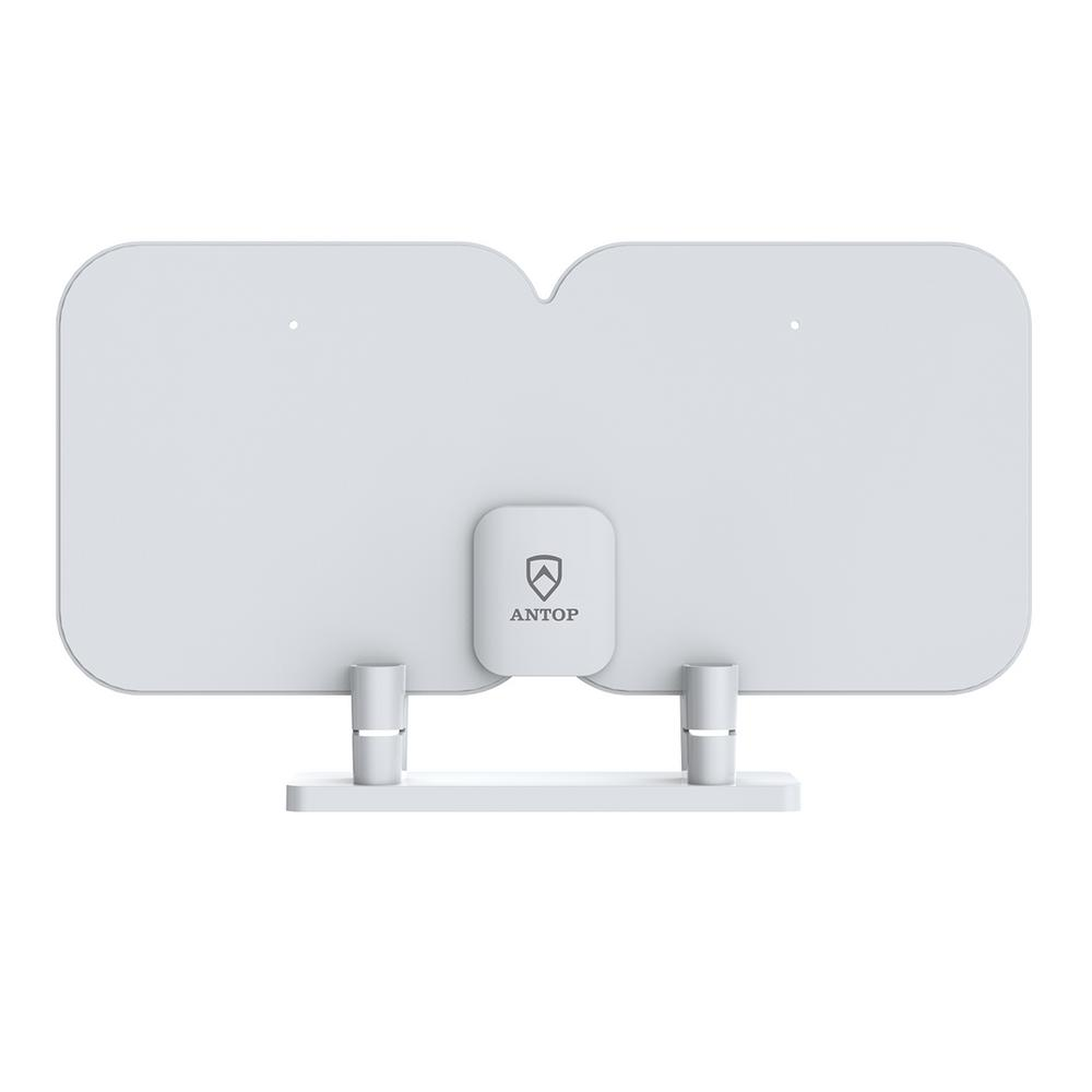 Antop Paper-Thin HDTV Antenna with High Gain and Built-In 4G LTE Filter Long Range Multi-Directional Reception