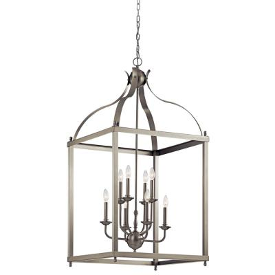 Larkin 8-Light Brushed Nickel Pendant