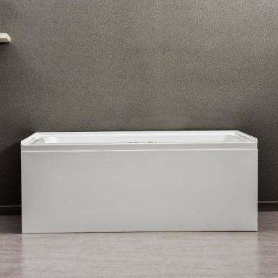 Flora 60 in. x 32 in. Acrylic Alcove Whirlpool Bathtub with Integral Apron and Right-Hand Drain in White