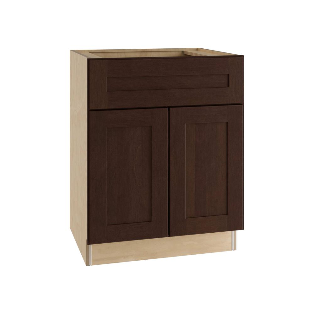 Franklin Assembled 24x34.5x21 in. Double Door & Drawer Base Vanity Cabinet
