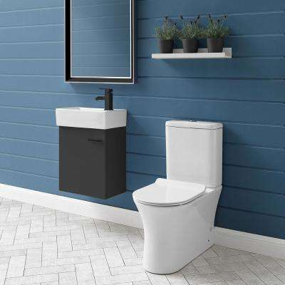 Calice 2-piece 0.8/1.28 GPF Dual Flush Elongated Toilet in White Seat Included
