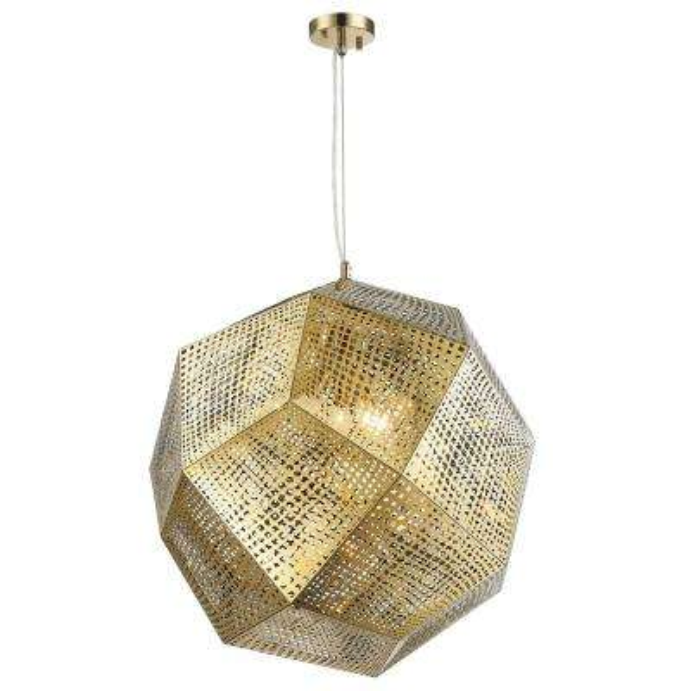 Geometrics 5-Light Champagne Pendant