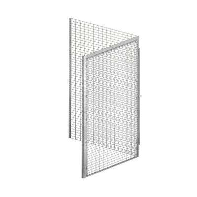8100 Series 48 in. W x 90 in. H x 48 in. D 1-Tier Bulk Storage Locker Add-On in Aluminum