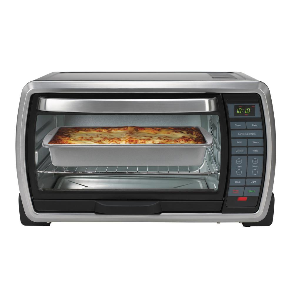 Oster Black Toaster Oven Tssttvmndg 001 The Home Depot