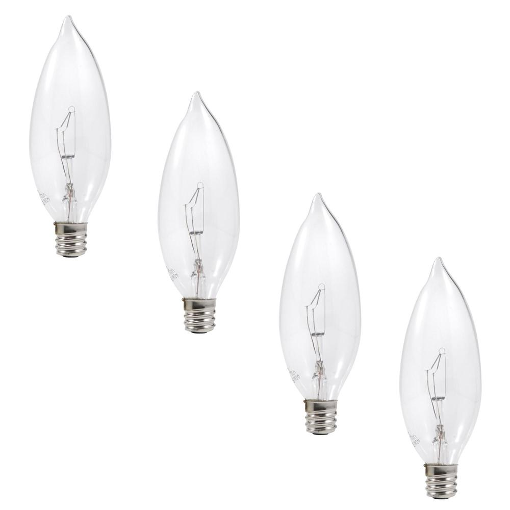 Sylvania 60-Watt Double Life B10 Incandescent Light Bulb (4-Pack)