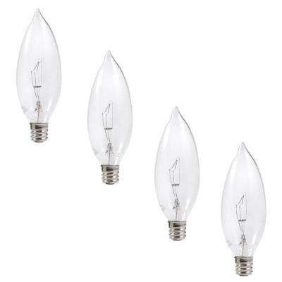 60 Watt Double Life B10 Incandescent Light Bulb (4 Pack)