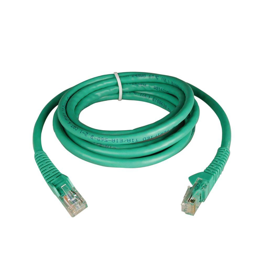 10-ft. Cat6 Gigabit Snagless Patch Cable RJ45 - Green