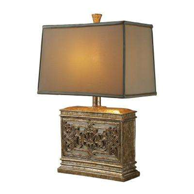 Courtney Gold Table Lamp With Ria Bronze Shade And Cream Liner
