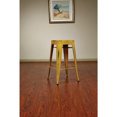 Bristow 26.25 in. Antique Yellow with Blue Specks Bar Stool (Set of 4)