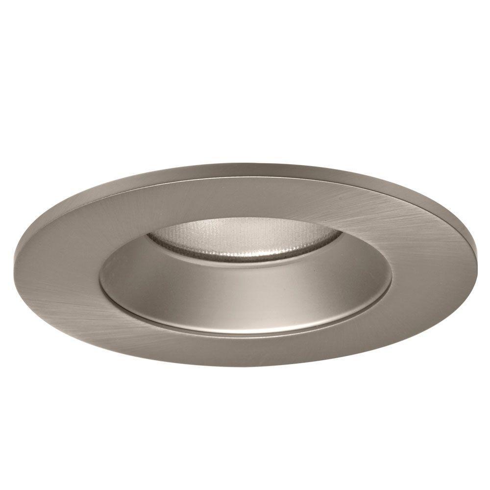 4 in. Satin Nickel Specular Recessed Ceiling Light LED Reflector Trim