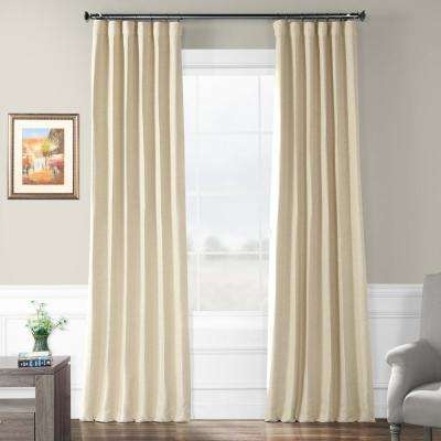 Semi-Opaque Candlelight Beige Bellino Blackout Curtain - 50 in. W x 120 in. L (Panel)