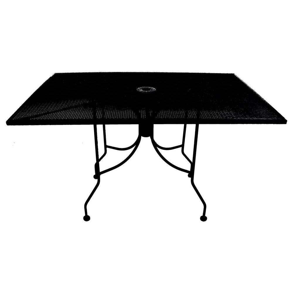 Arlington House 30 in. x 48 in. Commercial Grade Micro Mesh Patio Umbrella Table-DISCONTINUED