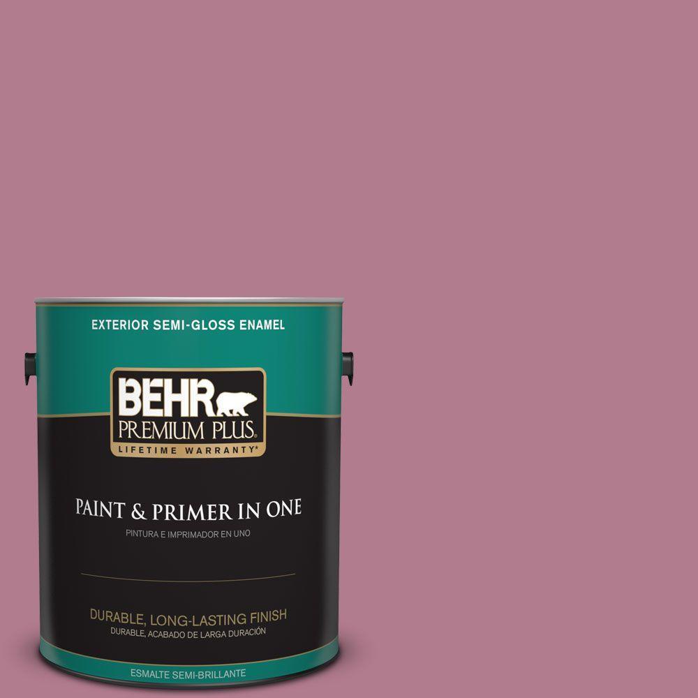 1-gal. #100D-4 Degas Pink Semi-Gloss Enamel Exterior Paint