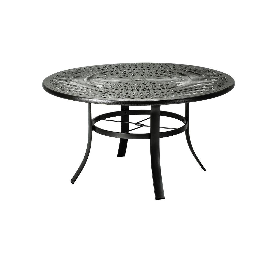tradewinds 42 in black cast aluminum commercial patio dining table 42sacmb8239m 4 the home depot. Black Bedroom Furniture Sets. Home Design Ideas
