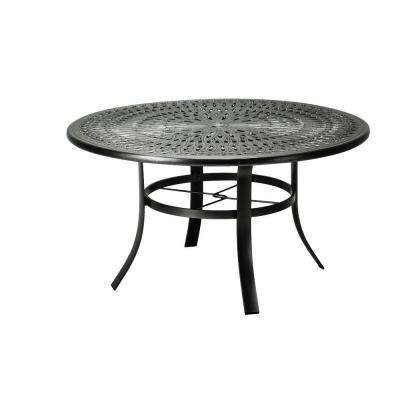 42 in. Black Cast Aluminum Commercial Patio Dining Table