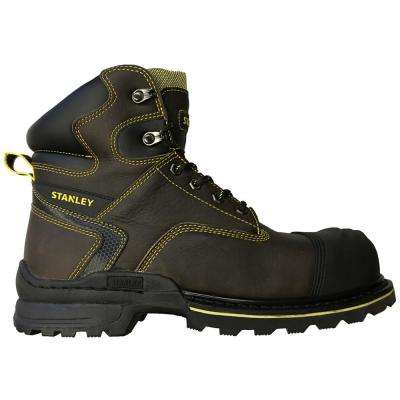 Operator Men 6 in. Size 10.5 Brown Leather Composite Toe Work Boot