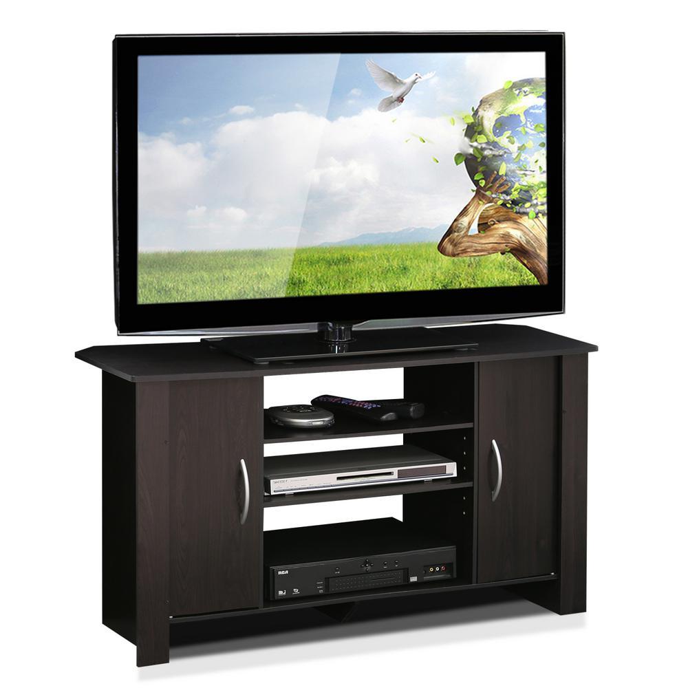 "Wood 42/"" TV Stand Entertainment Espresso Furniture Center Organizer Living Room"