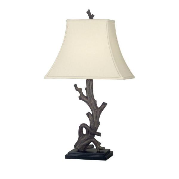 Drift 25 in. Wood Grain Table Lamp