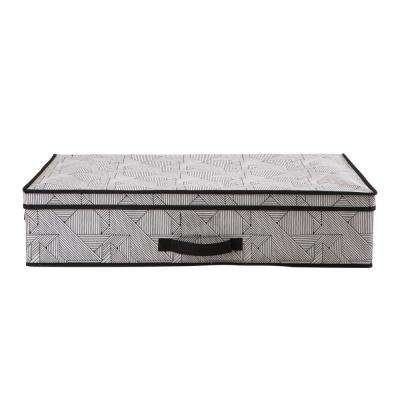 28 in. x 16 in. x 6 in. Geo Natural Under the Bed Storage Box