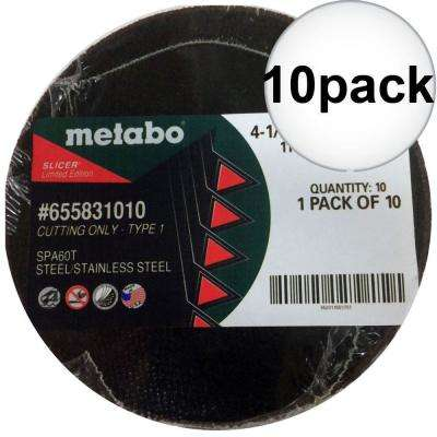 4 1/2 in. x .040 in. x 7/8 in. Cut-Off Wheel (Type 1) 10 Per Pack