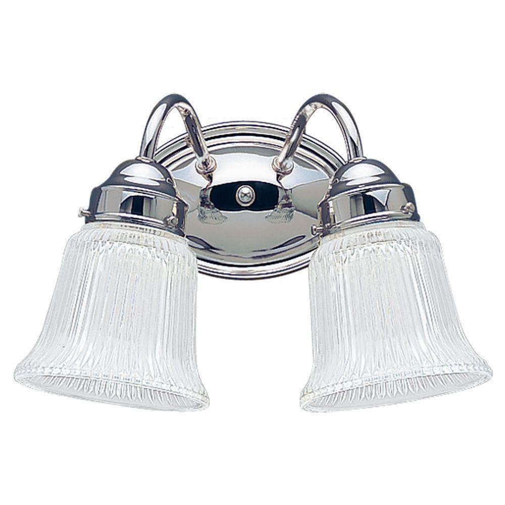 Brookchester 2-Light Chrome Vanity Light