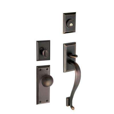 Fifth Avenue Single Cylinder Timeless Bronze S-Grip Handleset with Avenue Knob