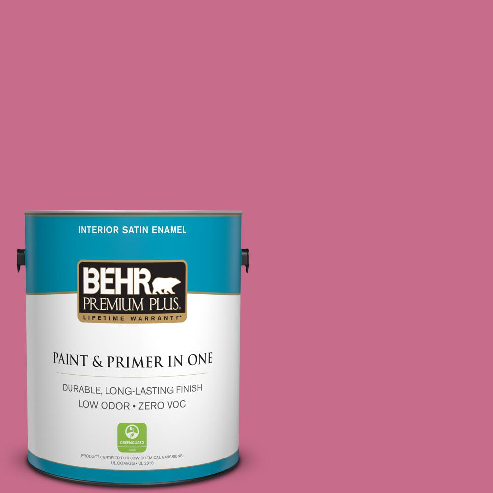 1-gal. #110B-5 Silk Ribbon Zero VOC Satin Enamel Interior Paint