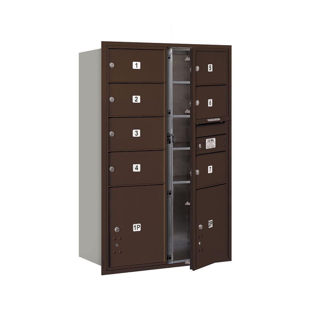 3700 Series 48 in. 13 Door High Unit Bronze USPS Front