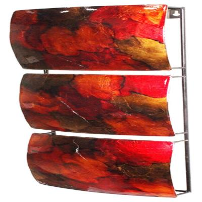 Shelly Metal Copper Red Gold Rectangle Home Accent Decor