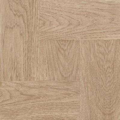 Natural Wood Parquet 12 in. x 12 in. Residential Peel and Stick Vinyl Tile Flooring (45 sq. ft. / case)