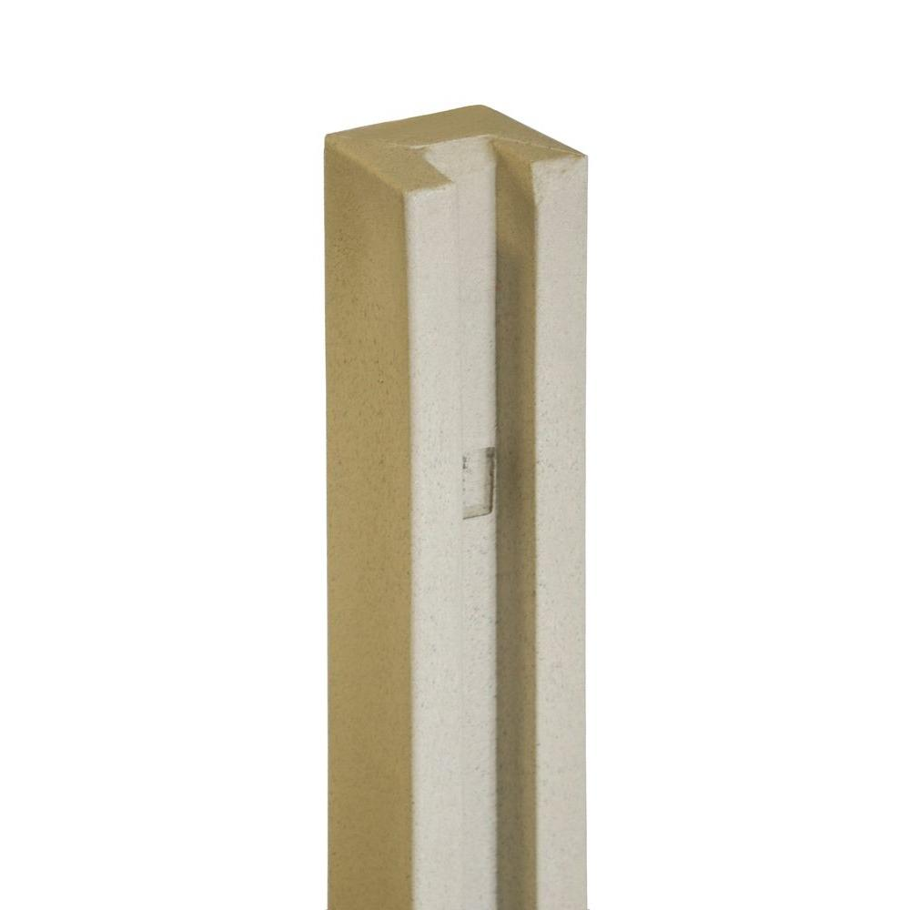 SimTek 5 in. x 5 in. x 8-1/2 ft. Beige Composite Fence End Post