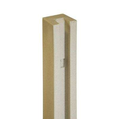 5 in. x 5 in. x 8-1/2 ft. Beige Composite Fence End Post