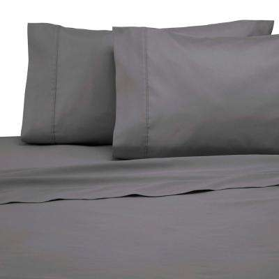 300 Thread Count 4-Piece Graphite Cotton Queen Sheet Set