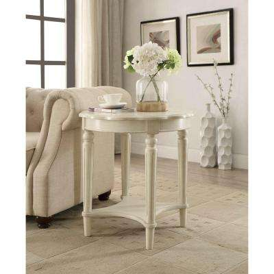 Fordon End Table In Antique White
