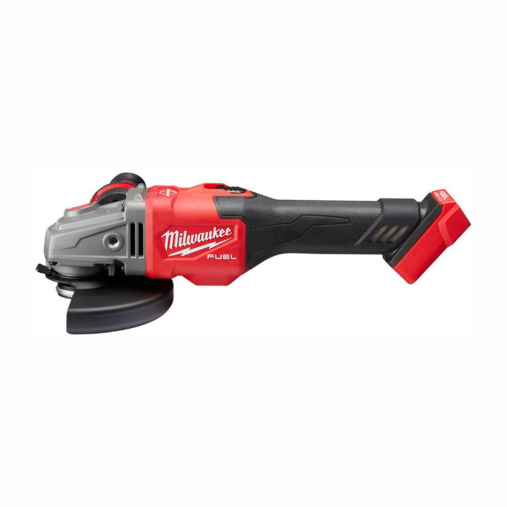 Milwaukee M18 Fuel 18 Volt Lithium Ion Brushless Cordless 4 1 2 In 6 In Grinder With Slide Switch With Lock On Tool Only 2981 20 The Home Depot